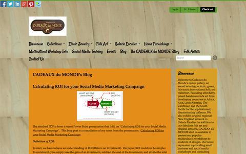Screenshot of Blog myshopify.com - CADEAUX du MONDE's Blog   CADEAUX du MONDE - captured Sept. 19, 2014