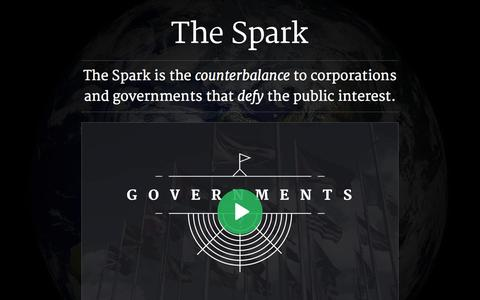 Screenshot of Terms Page thespark.org - The Spark - Problem. Solution. Action. - captured Oct. 9, 2014