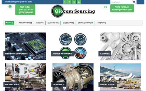Screenshot of Home Page giocomsourcing.com - Giocom Sourcing - captured Sept. 28, 2018