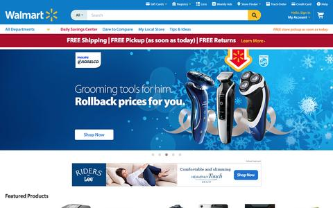 Screenshot of Home Page walmart.com captured Nov. 23, 2015