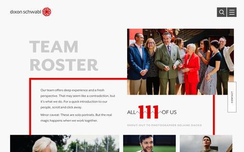 Screenshot of Team Page dixonschwabl.com - Our Marketing and Advertising Team | Dixon Schwabl - captured April 10, 2018