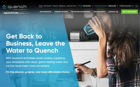 Screenshot of Home Page quenchwater.com - Quench Water - captured Sept. 30, 2018