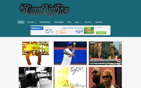 Screenshot of Home Page vanndigital.com - VannDigital.com | #VannDigi5ive - captured Sept. 19, 2014