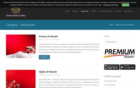 Screenshot of Menu Page grandhotelsitea.it - Ristorante Archives - Grand Hotel Sitea Torino  »  Grand Hotel Sitea Torino - captured Nov. 13, 2016