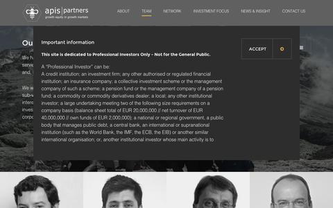 Screenshot of Team Page apis.pe - Team   Apis Partners - captured Nov. 21, 2016