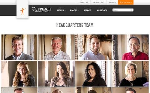 Screenshot of Team Page outreach-international.org - Team | Outreach International - captured Oct. 9, 2014