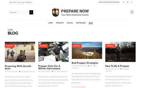 Screenshot of Blog prepare-now.com - Blog - Prepare Now - captured June 30, 2018