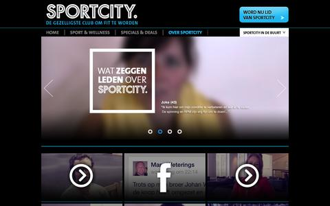 Screenshot of Testimonials Page sportcity.nl - Leden over SportCity - captured Oct. 26, 2014
