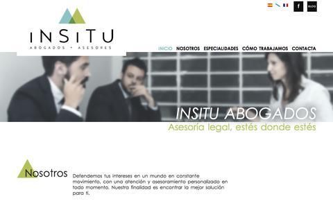 Screenshot of Home Page insitu-a.com - INSITU Abogados y Asesores - captured Nov. 18, 2016