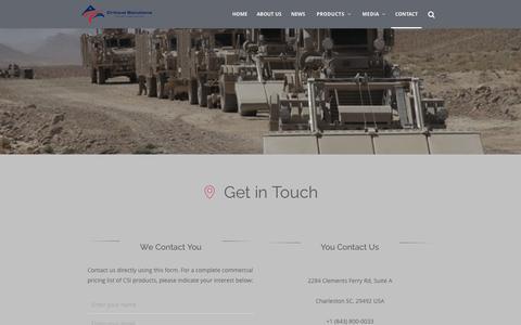 Screenshot of Contact Page c-s-i.com - Contact   Critical Solutions International - captured Sept. 27, 2015