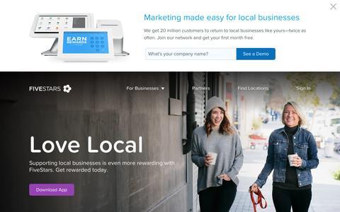 Local Business Rewards Network - FiveStars