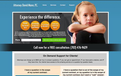 Screenshot of Support Page lawfirmexpress.com - Support — Attorney David Mann, P.C. - captured Sept. 29, 2014