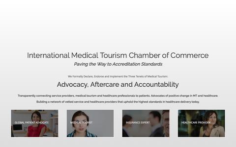 Screenshot of Home Page imtcc.org - International Medical Tourism Chamber of Commerce - captured Nov. 18, 2016