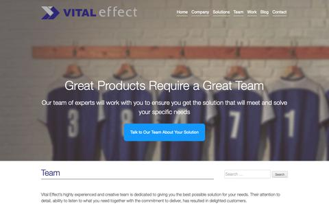 Screenshot of Team Page vitaleffect.com - Vital Effect » Team | Alberta Web Design and Online Solutions - captured Oct. 20, 2018