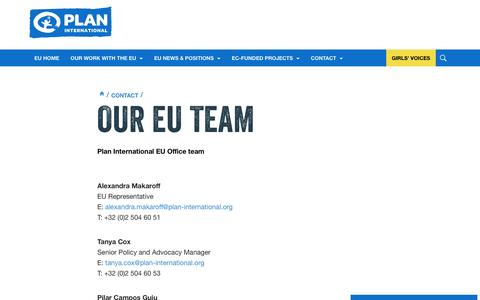 Screenshot of Team Page plan-international.org - Our EU team | Plan International - captured Dec. 29, 2016