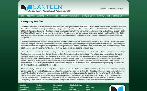 Screenshot of About Page canteenmaine.com - Company Profile | Canteen Maine - captured June 24, 2016