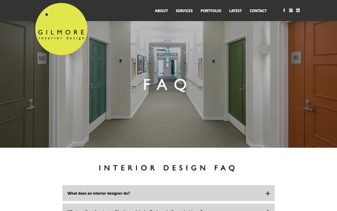 Low Traffic Design Faq Pages Website Inspiration And