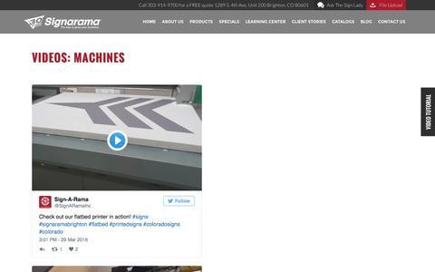 Videos: Machines | Signarama Colorado