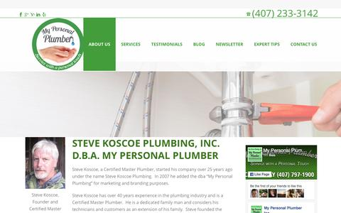 Screenshot of About Page mypersonalplumber.net - About Us | Plumbing Service with a Personal Touch, My Personal Plumber - captured Dec. 2, 2016