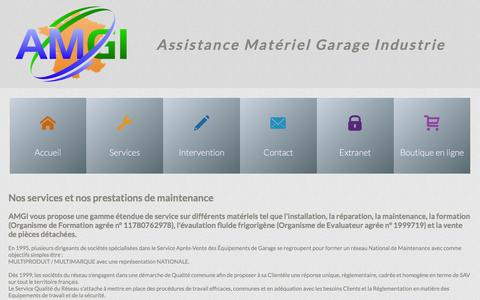 Screenshot of Services Page amgi.fr - AMGI - Nos services et prestations réglementaires en France - captured Feb. 4, 2016