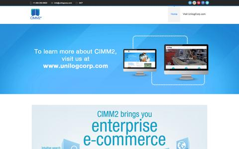 Screenshot of Home Page cimm2.com - eCommerce Product Catalog Management Software - captured July 9, 2016