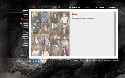 Screenshot of Team Page girvin.com - Girvin | Story | People - captured Oct. 2, 2014