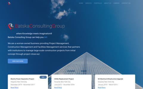 Screenshot of Home Page batska.com - Home - Batska Consulting Group - captured Oct. 5, 2018