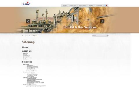 Screenshot of Site Map Page spieogs.com - Sitemap - SPIE - captured Oct. 3, 2014