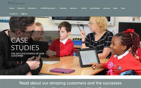 Screenshot of Case Studies Page jtrs.co.uk - Case Studies | Our Success Stories - captured Oct. 16, 2017