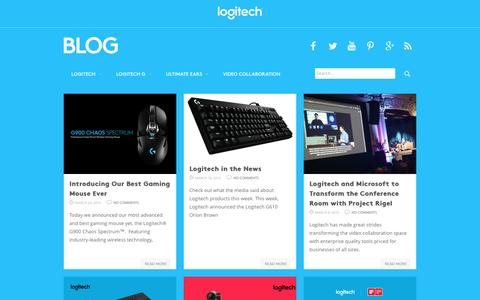 Screenshot of Blog logitech.com - LogitechBlog - captured March 29, 2016