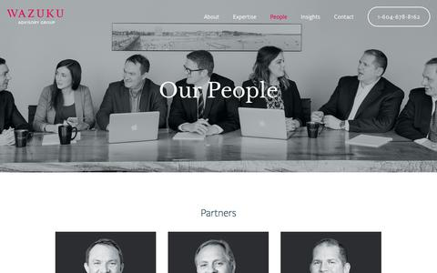 Screenshot of Team Page wazuku.ca - Our Team — Wazuku Advisory Group - captured Dec. 14, 2016