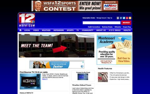 Screenshot of About Page wsfa.com - WSFA 12 News: All about us. Staff, contacts, history, FCC, Jobs - WSFA.com Montgomery Alabama news. - captured Oct. 26, 2014