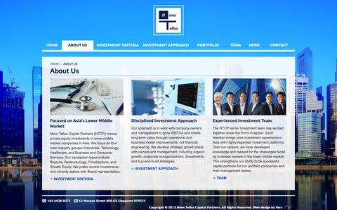 Screenshot of About Page novotellus.com - About Us:: Novo Tellus Capital Partners – Private Equity Firm - captured Oct. 7, 2014