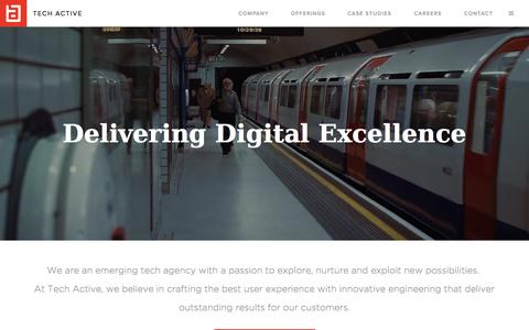 Screenshot of Home Page tech-active.com - Welcome to Tech Active - captured June 17, 2015