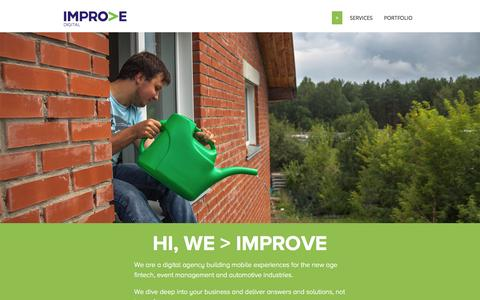 Screenshot of Home Page improveitgroup.com - Improve Digital | Emotional solutions for the changing world - captured July 15, 2015