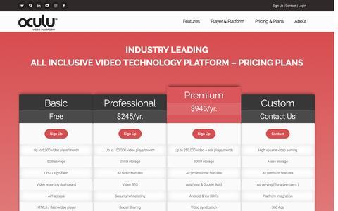 Screenshot of Signup Page oculu.com captured Nov. 5, 2016