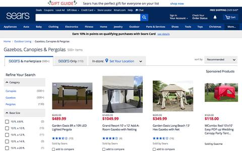 Gazebos, Canopies & Pergolas - Sears
