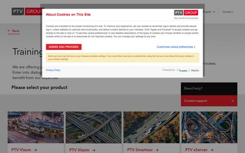 Screenshot of Support Page ptvgroup.com - Contact Our Experts for Support | PTV Group - captured Sept. 26, 2018