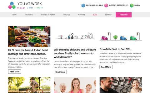 Screenshot of Blog youatwork.com - Blog | News & Events | Benefits & Information | You At Work - captured June 11, 2017