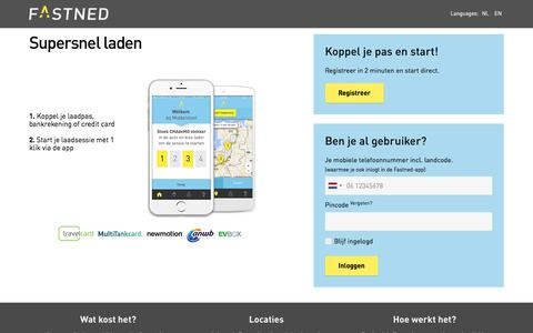 Screenshot of Login Page fastned.nl - Opladen Fastned - captured June 5, 2017