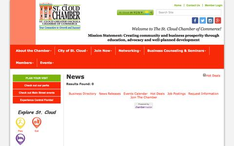 Screenshot of Press Page stcloudflchamber.com - News - The St. Cloud Greater Osceola Chamber of Commerce,FL - captured Jan. 24, 2017