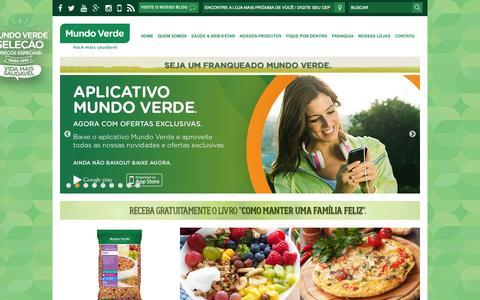Screenshot of Home Page mundoverde.com.br - Mundo Verde - captured Sept. 17, 2015
