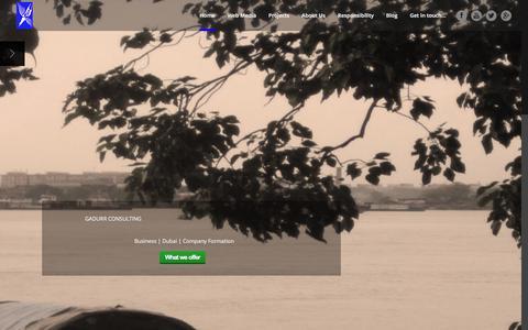 Screenshot of Home Page gadurr.com - Gadurr Media | Advertising and NewMedia - captured Jan. 25, 2016