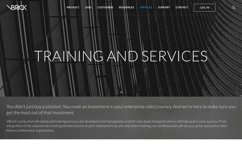 Screenshot of Services Page vbrick.com - Professional, Training and Managed Services | VBrick - captured Nov. 18, 2016