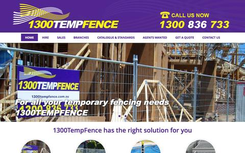 Screenshot of Home Page temporaryfence.com.au - Temporary Fencing Hire & Sales | 1300TempFence - captured Aug. 14, 2015