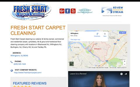 Screenshot of Testimonials Page freshstartcarpet.com - Testimonials – Fresh Start Carpet - captured Oct. 14, 2017