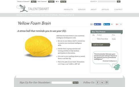 TalentSmart Yellow Foam Brain
