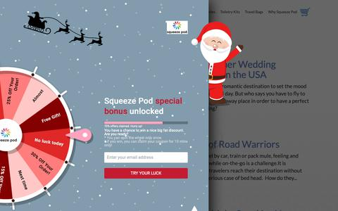 Screenshot of Press Page squeezepod.com - Travel Blog Tips & Tricks | Squeeze Pod Easy to Use Travel Toiletries - captured Dec. 11, 2018
