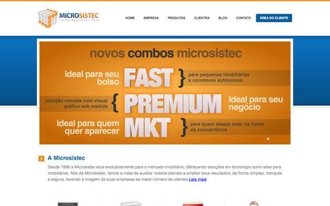 Screenshot of Home Page microsistec.com.br - Site para Imobiliaria - Microsistec! Com a cara da sua imobiliaria! - captured Jan. 29, 2015