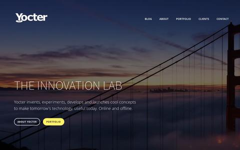 Screenshot of Home Page yocter.com - Yocter - captured Aug. 15, 2015